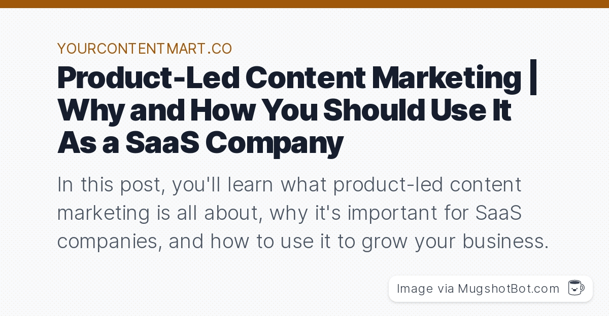 And if you're a SaaS company that really wants to get results (and not crickets) from your content marketing efforts, then you should change your st