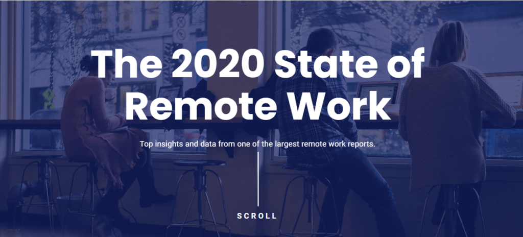 Buffer state of remote work report
